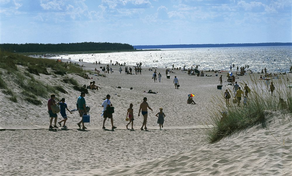 Yyteri beach. Finland Baltic coast