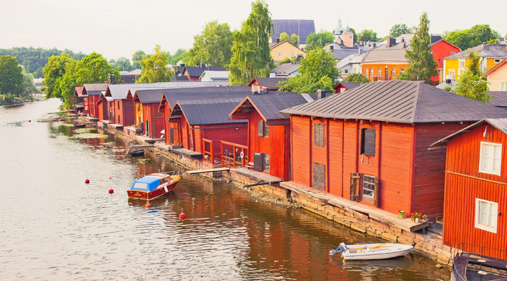 Fishing village Finland